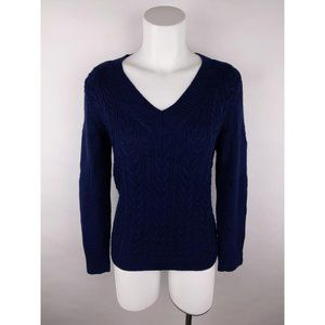 Talbots PS Solid Cable Knit Pullover Sweater